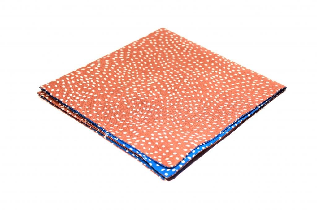 dwustronna bawełniana poszetka ręcznie robiona