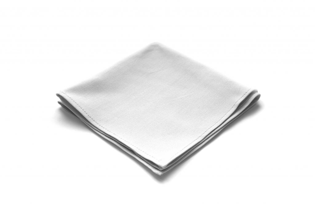 bawełniana biała poszetka