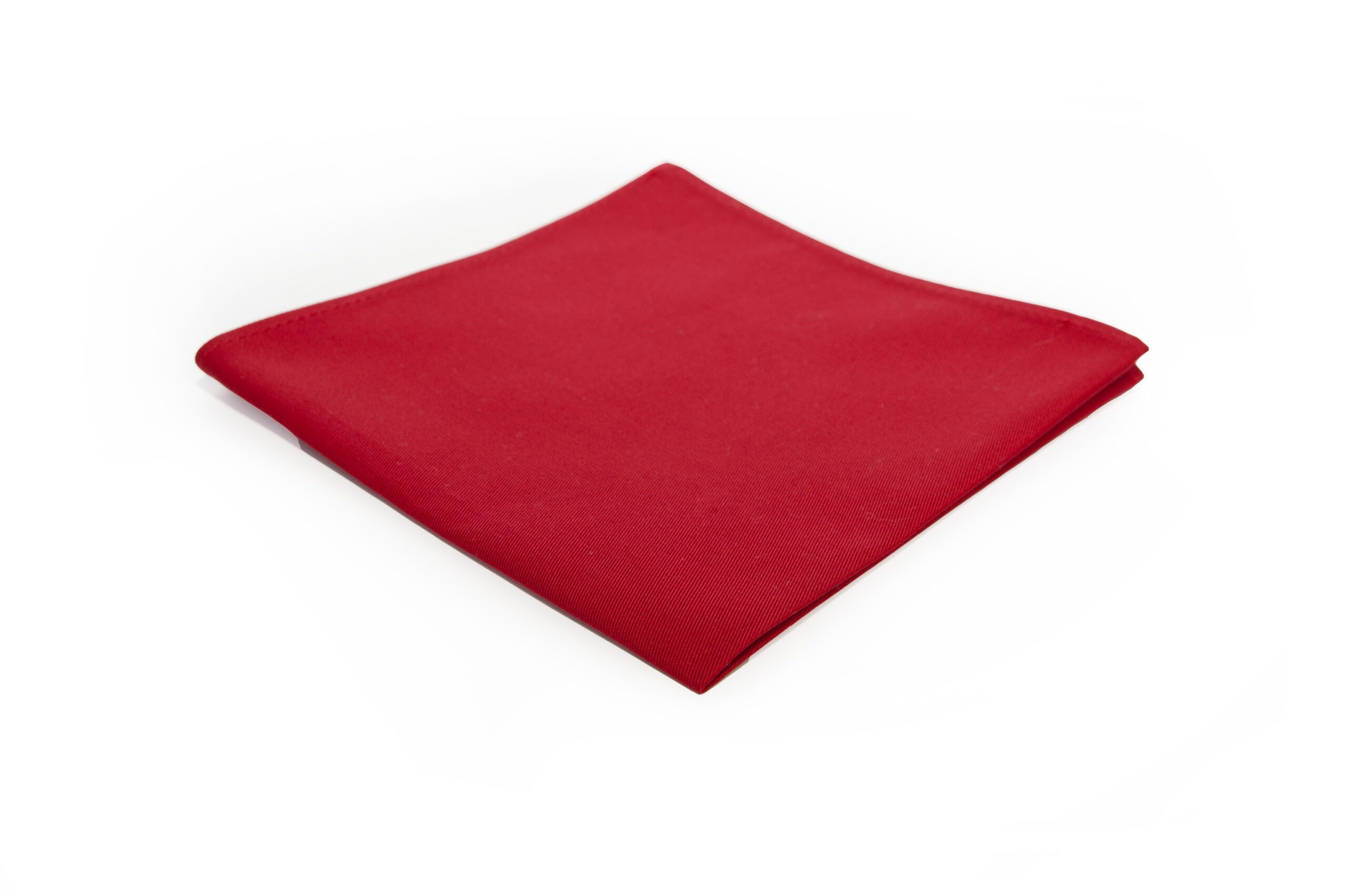 poszetka bawełniana czerwono-krwista